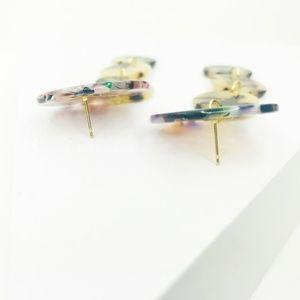 CLOSET REHAB Jewelry - Linear Circle Drop Earrings in Blond Tortoise